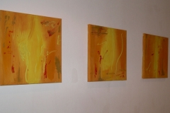 Mouchses Volantes - 3 Paintings on canvas